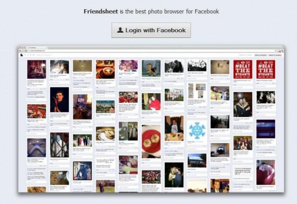 Friendsheet, visualiza Facebook al estilo Pinterest