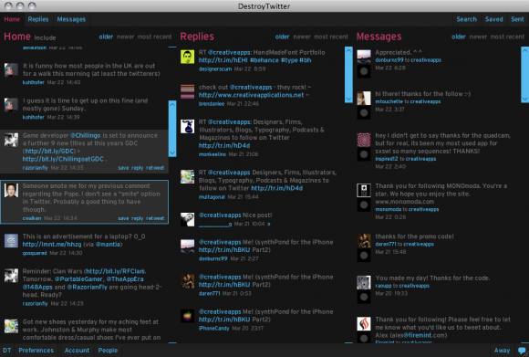 Cliente multiplataforma para Twitter