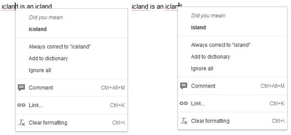 Google Docs mejora su corrector ortográfico