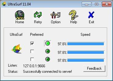 Ultrasurf: Navega anónimamente