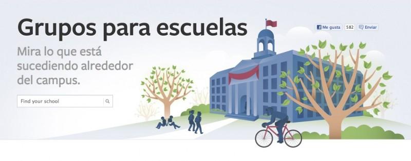 Facebook: Grupos para escuelas