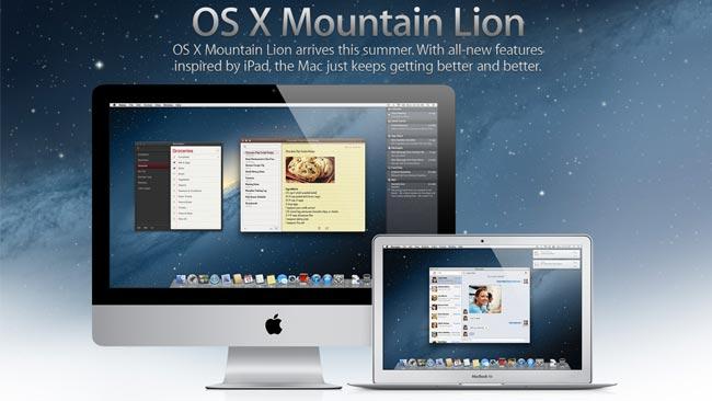 Disponible la tercera versión de prueba para desarrolladores de OS X Mountain Lion