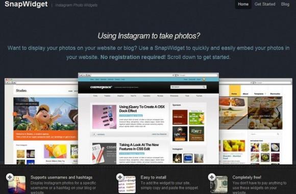 Añade fotografías de Instagram en tu página web