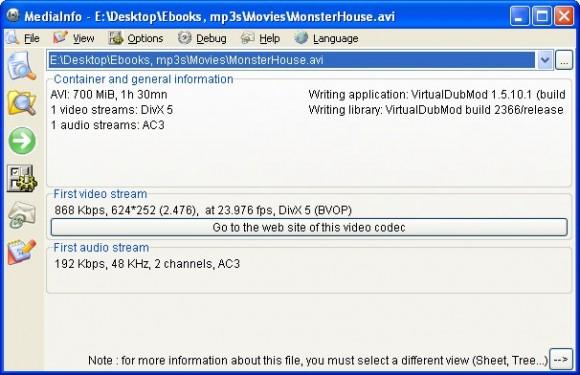 Conoce los datos de tus archivos multimedia con MediaInfo en su nueva versión
