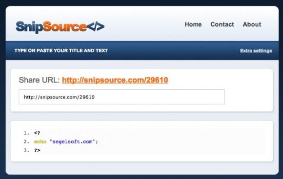 Comparte código de manera sencilla y segura con SnipSource