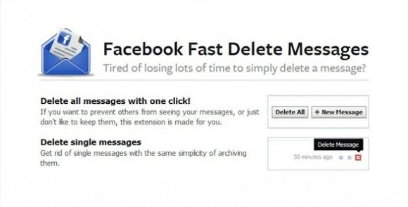 Elimina mensajes de Facebook rápidamente con una extensión para Chrome