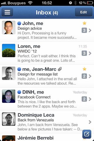 Sparrow para iOS presenta actualización