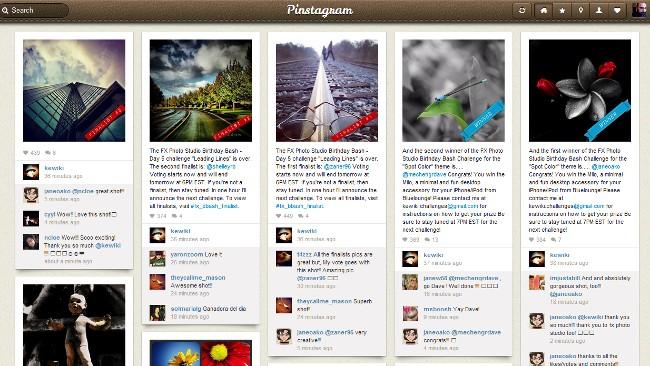 Pinstagram: Tus fotos de Instagram a lo Pinterest
