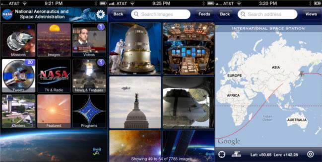 Actualizada la aplicación de la NASA para iOS