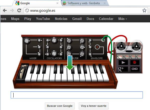 Google dedica su Doodle a Robert Moog, creador del sintetizador
