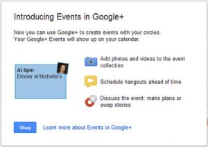 Google+ permite crear eventos con tus círculos de amigos