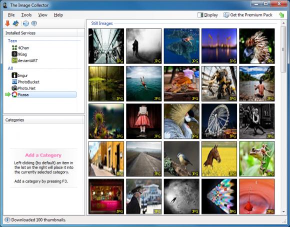 The Image Collector: descarga imágenes de varios sitios