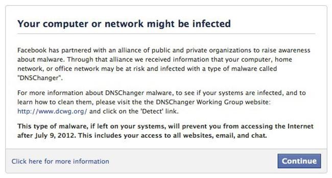 Facebook se une a la lucha contra DNS Changer