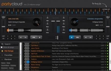 Mezcla música online con PartyCloud