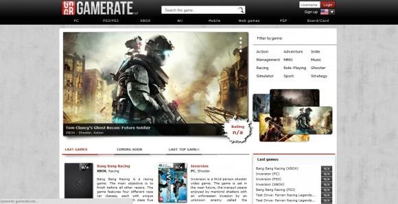 Nueva red social para gamers llamada Gamerate