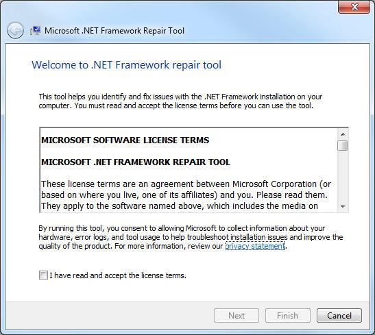 .NET Framework Repair Tool 1.0