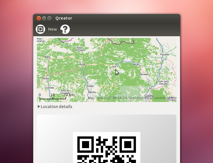 QReator: Crea códigos QR en Ubuntu
