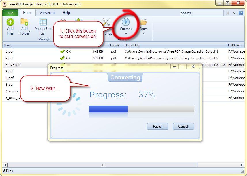Free PDF Image Extractor: Extrae imágenes de documentos PDF