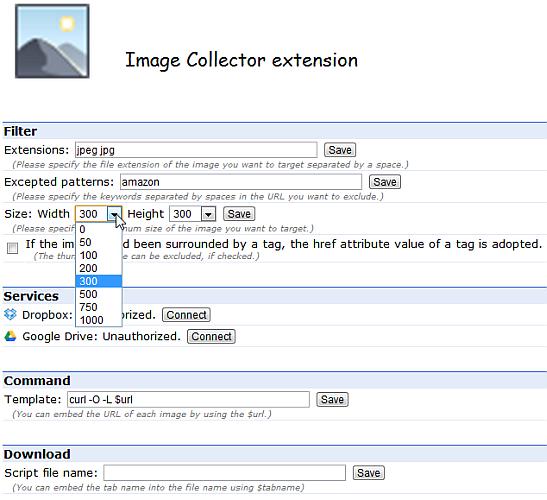 Descarga todas las imágenes de un sitio con Image Collector Extension para Chrome