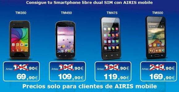 Airis Mobile ofrece sus smartphones con descuentos de 90 euros