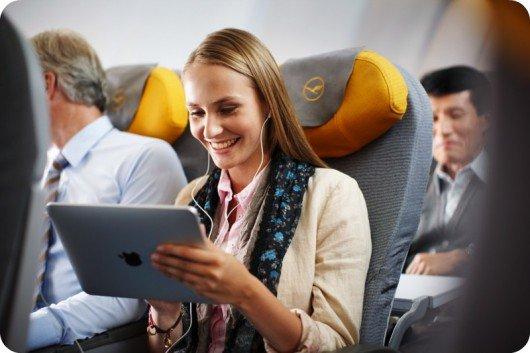 La banda ancha en aviones llegará a 60 Mbps