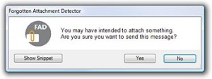 Forgotten Attachment Detector: nunca más se te olvidará adjuntar nada a tus mails
