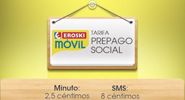 Eroski lanza su tarifa Soci@l en modalidad prepago