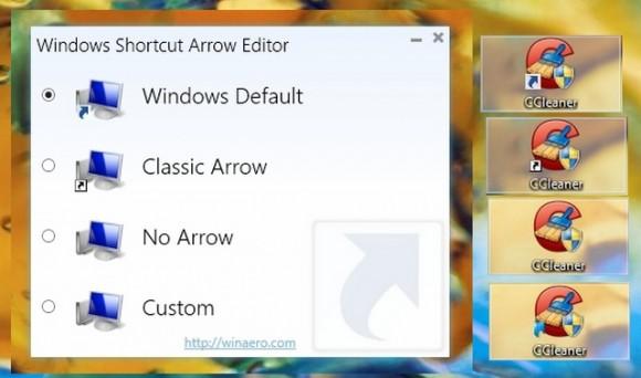 Cómo borrar o modificar la flecha de acceso directo en Windows
