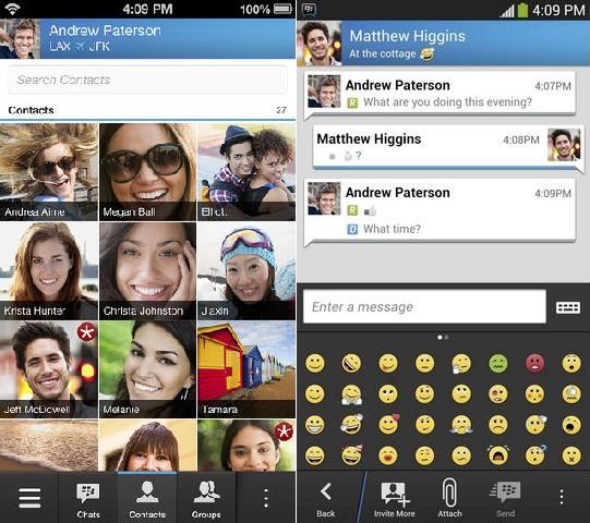 BlackBerry Messenger, disponible de forma oficial para iPhone y Android