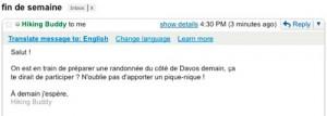 Gmail: Traducción automática de mensajes