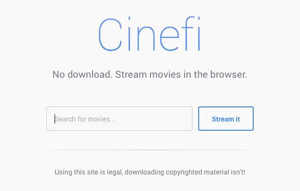 Con Cinefi disfrutaremos de los torrents sin descargar absolutamente nada