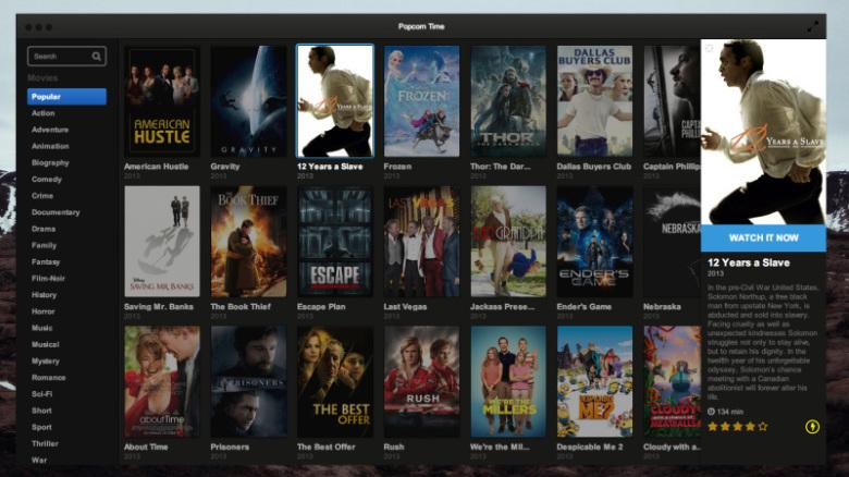 Popcorn Time anuncia su regreso con la nueva versión 0.3