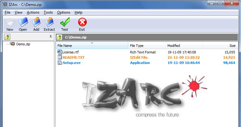 IZArc es un eficaz extractor de archivos para Windows y para iOS