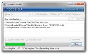 EncodeHD: Conversor de vídeo