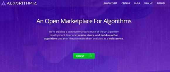 Alquila y compra algoritmos en Algorithmia