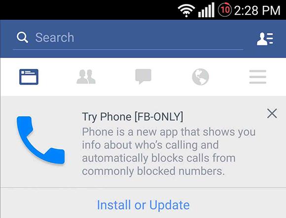 Lo nuevo de Facebook se llama Phone, conócelo.
