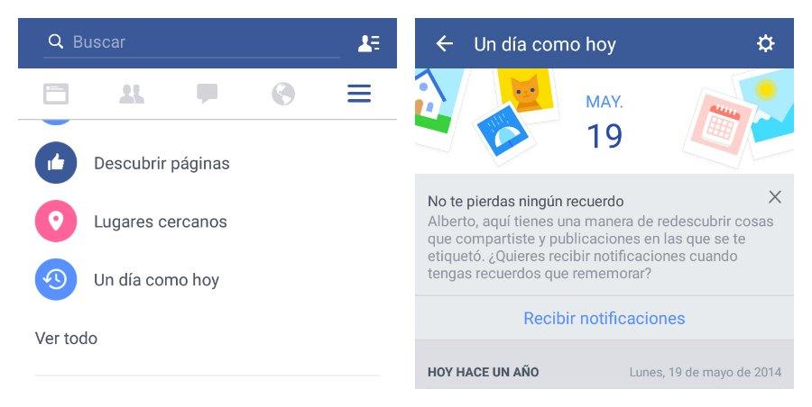 Facebook permite filtrar los recuerdos de la aplicación ?Un día como hoy?