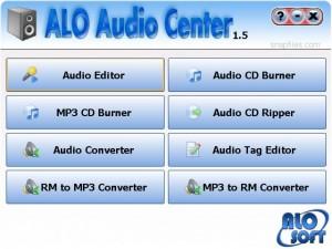 ALO Audio Center, suite relacionada con la edición completa de archivos de audio