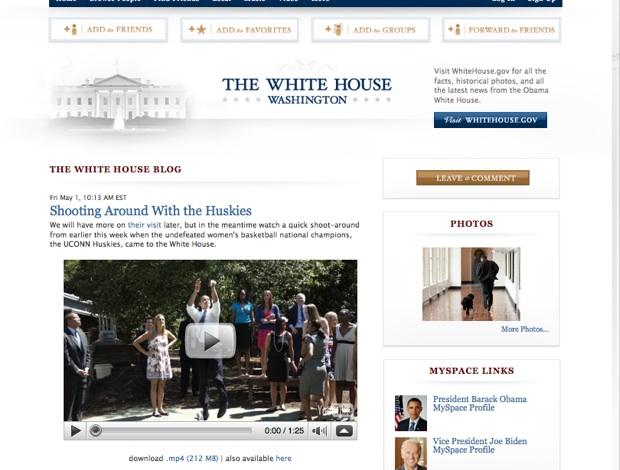 La Casa Blanca ya tiene Myspace