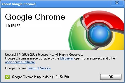 Actualización de Google Chrome