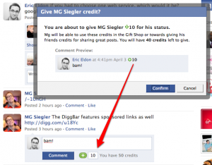 Facebook: nuevo sistema de créditos por usuario