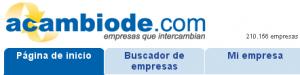 Acambiode.com: trueque entre empresas