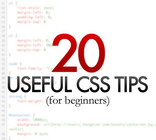 20 truquitos en CSS para principiantes