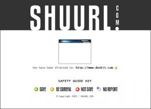 Shuurl, haciendo seguras las direcciones url cortas