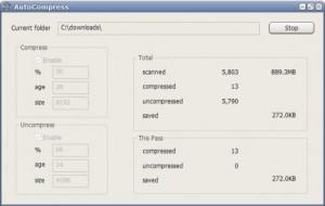 AutoCompress, comprime automáticamente los archivos de una carpeta