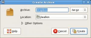 Compresión de archivos en GNOME