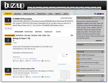 Buzzup, el Digg de los documentos