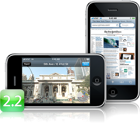 Apple lanza Firmware 2.2 para iPhone