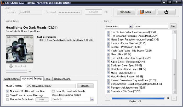 Descarga la música que escuchas en LastFM