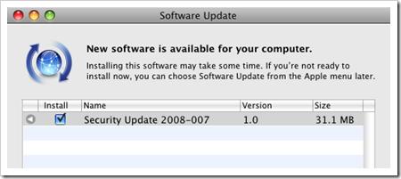 Nueva actualización de seguridad disponible para usuarios de Mac OS X
